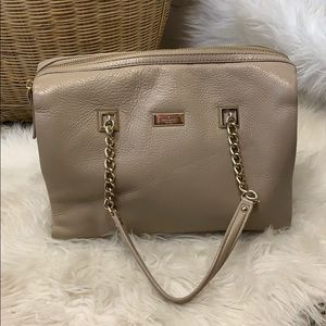 Kate Spade Nude Leather Arm Tote